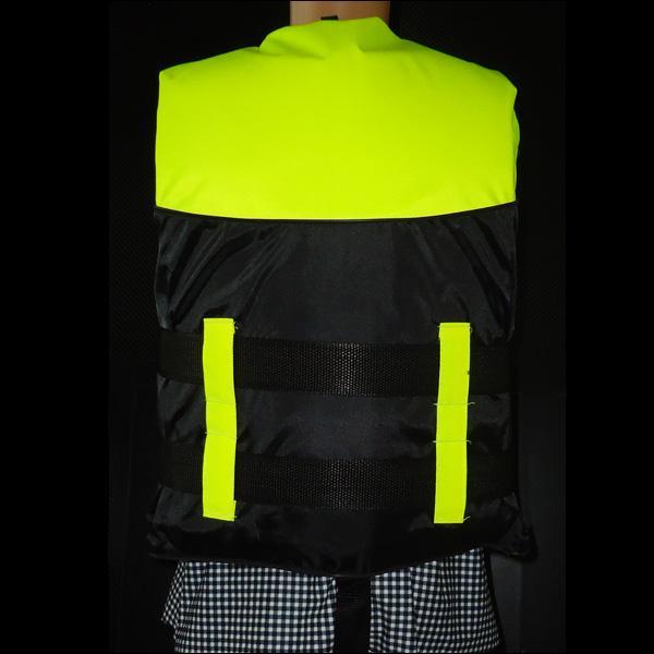 ライフジャケット SOSホイッスル笛付き フローティングベスト Sサイズ 子供用 キッズサイズ 蛍光イエロー|vivaenterplise|09