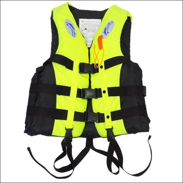 ライフジャケット SOSホイッスル笛付き フローティングベスト XL XXL サイズ 蛍光イエロー|vivaenterplise|02