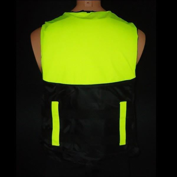 ライフジャケット SOSホイッスル笛付き フローティングベストM.Lサイズ 蛍光イエロー|vivaenterplise|06