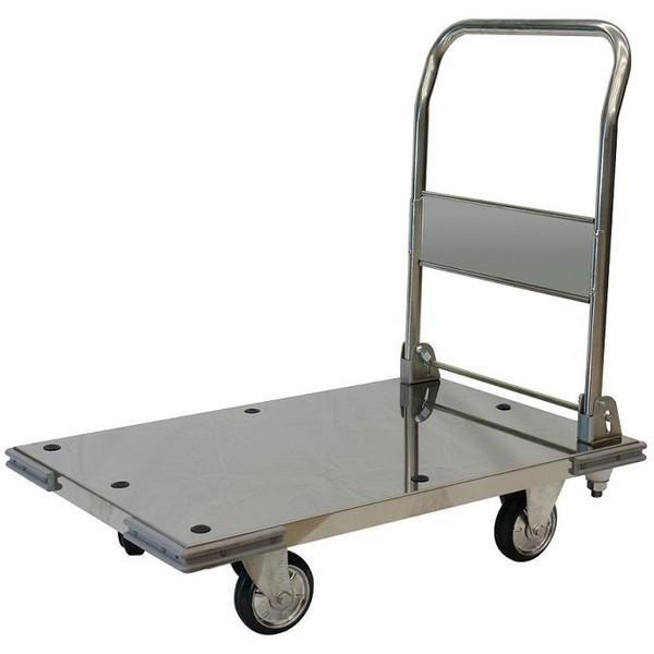 シシクアドクライス 運搬台車 ステンレス製 ハンドル折りたたみ MA-SUS Mタイプ キャスター:ゴム車輪付