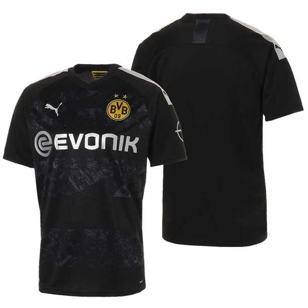 ドルトムント BVB SS アウェイ レプリカシャツ PUMA プーマ サッカー レプリカジャージー ドルトムント 19FW(755745-12)