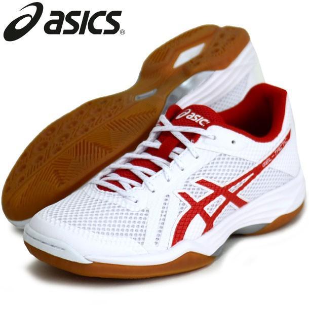 GEL-TACTIC(白い/CLASSIC 赤) ASICS アシックス レディース バレーボールシューズ19SS (1052A017-143)