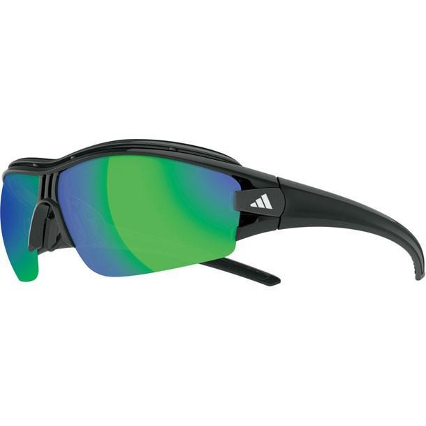 サイクル サングラス evil eye halfrim pro Lサイズ シャイニーブラック adidas アディダス リクジョウサングラス (A181016090)