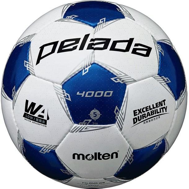 ペレーダ4000 WH/Mブルー5ゴウ (molten)モルテン サッカーボール5ゴウ (f5l4000wb)
