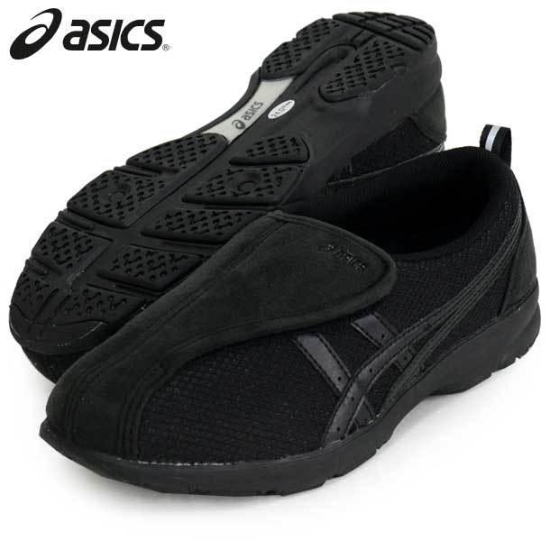 ライフウォ−カ−R307(W) (ブラック×ブラック) ASICS アシックス (FLC307-9090)