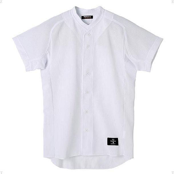 学生試合用ユニフォーム 立衿ボタンダウンシャツ DESCENTE デサント ヤキュウソフトユニフォーム シャツ・M (