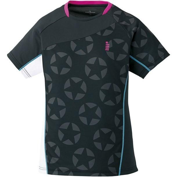レディースホシガラゲームシャツ GOSEN ゴーセン テニスゲームシャツ W (t1711-39)