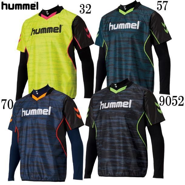 あったかインナー+半袖ピステセット hummel ヒュンメル サッカー ピステシャツ18AW(HAW4184H)