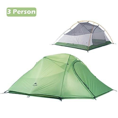 Azarxis テント 1〜2〜3人用 4シーズン用 二重層テント 軽量 テント キャンプツーリング 登山 アウトドア (グリーン (2-3人))