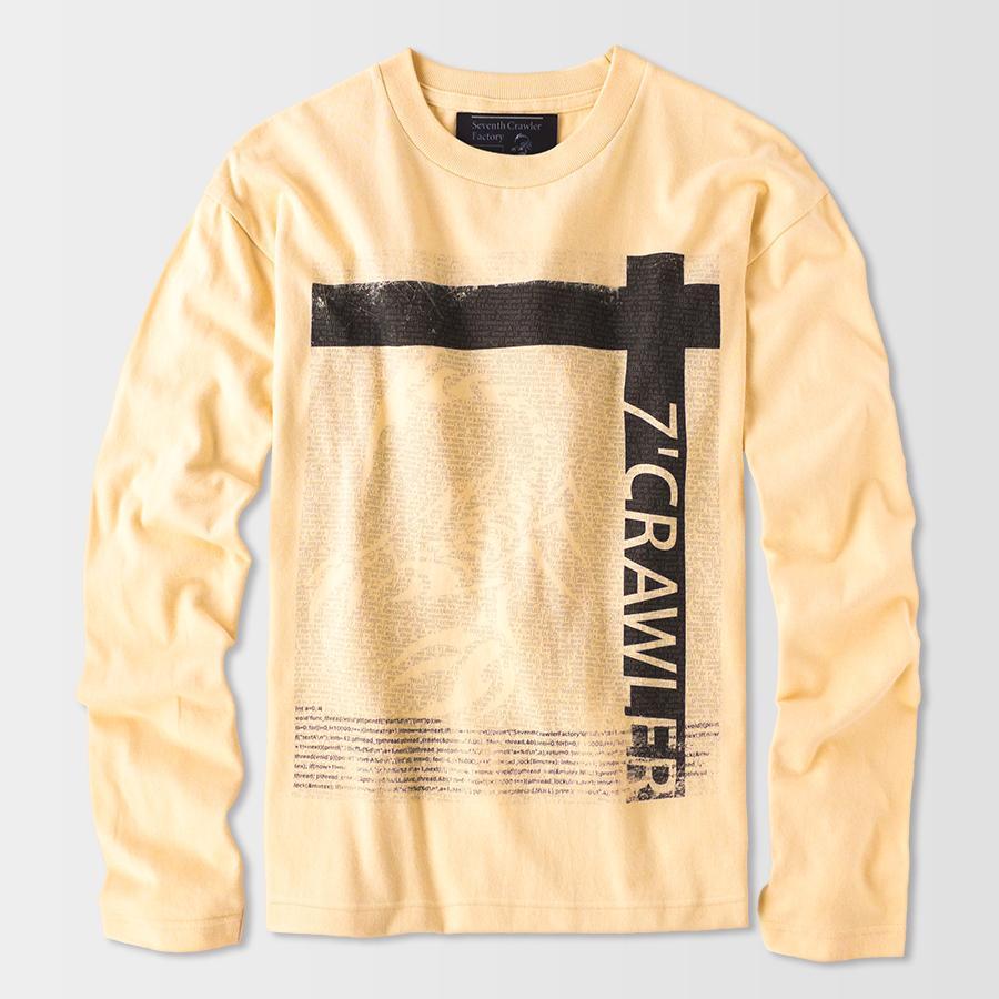 長袖Tシャツ メンズ ロンT ロングTシャツ 金運上昇 アメカジ ブランド セブンスクローラー 正規品 ナチュラルイエロー|vividstyle|02