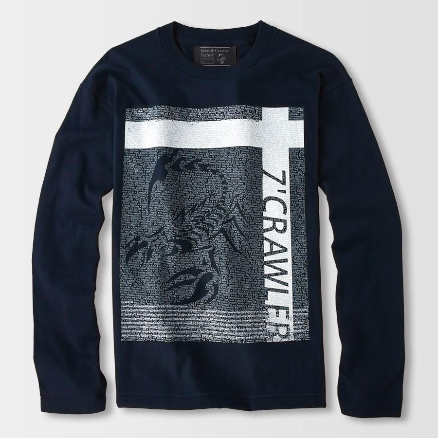 長袖Tシャツ メンズ ロンT ロングTシャツ 金運上昇 アメカジ ブランド セブンスクローラー 正規品 ネイビー vividstyle 02