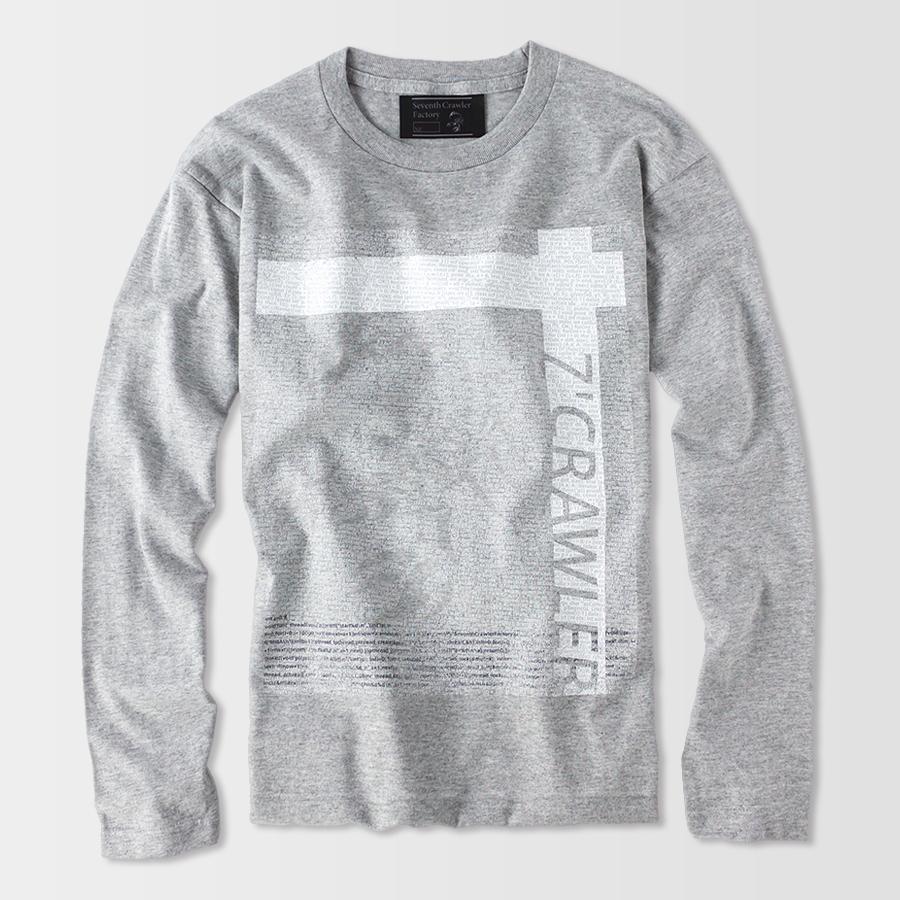 長袖Tシャツ メンズ ロンT ロングTシャツ 恋愛運上昇 アメカジ ブランド セブンスクローラー 正規品 グレー vividstyle 02