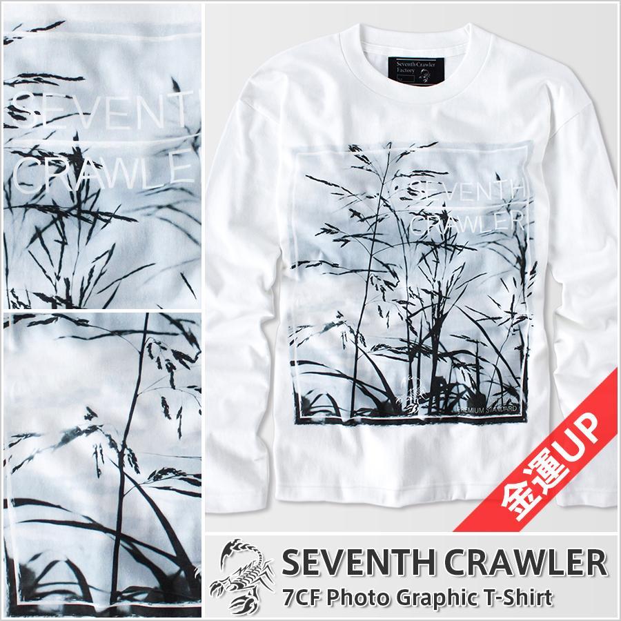 長袖Tシャツ メンズ ロンT ロングTシャツ 金運上昇 アメカジ ブランド セブンスクローラー 正規品 ホワイト|vividstyle