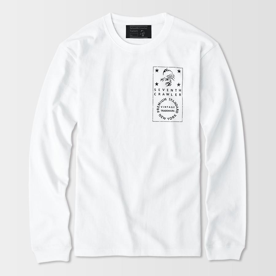 長袖Tシャツ メンズ ロンT ロングTシャツ アメカジ ブランド セブンスクローラー 正規品 ホワイト|vividstyle|02