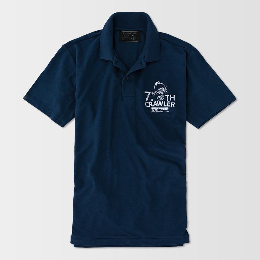 ポロシャツ メンズ 半袖 アメカジ ブランド セブンスクローラー 正規品 ネイビー vividstyle 02