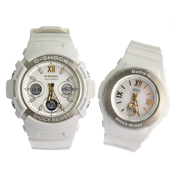 円高還元 カシオ ペアウォッチ 腕時計ペアセット メンズ&レディース CASIO ホワイトシルバー, 象潟町 d99309f2