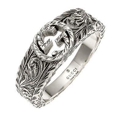 最適な価格 グッチ リング 指輪 レディース&メンズ GUCCI シルバー 10号, ナカクビキグン 53809ca5