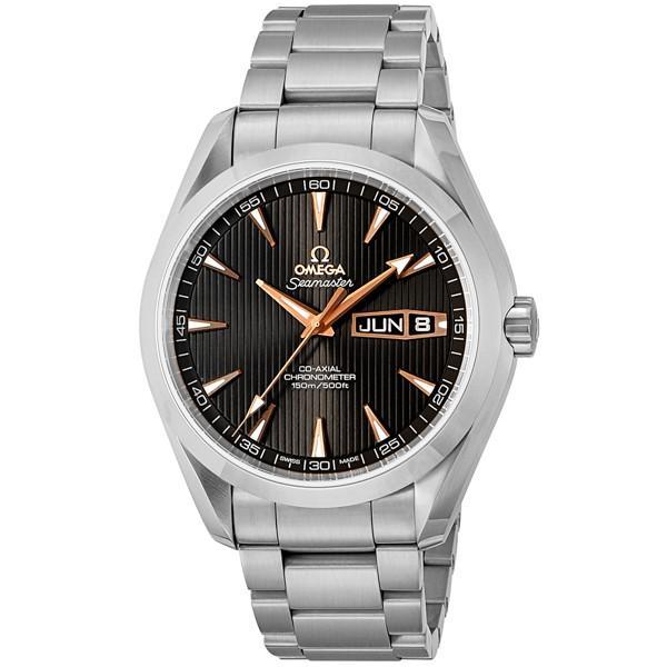 超美品 オメガ 腕時計 メンズ シーマスター アクアテラ コーアクシャル OMEGA 自動巻き ブラック, men'sホーマン fc2b6f0b