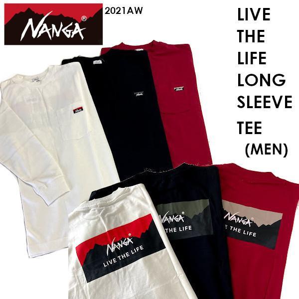 NANGA ナンガ LIVE THE LIFE LONG SLEEVE TEE MEN リブ ザ ライフ ロング スリーブ ティー メンズ NANGA DOWN WEAR 2021 AUTUMN/WINTER voltage