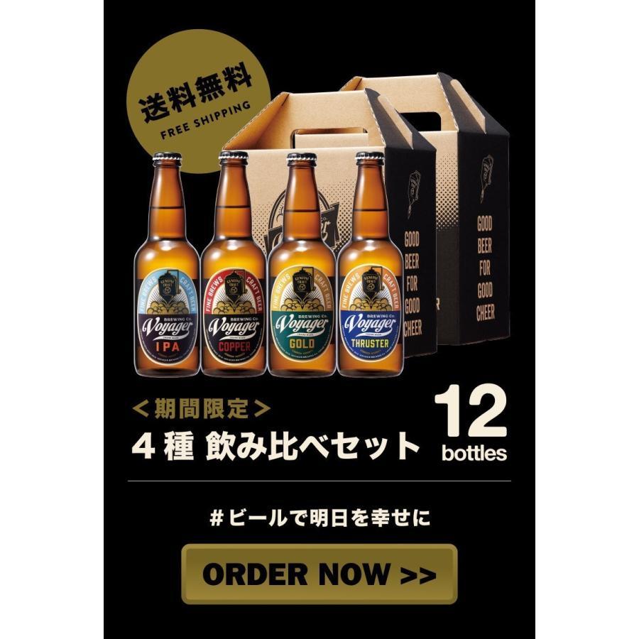 【期間限定・送料無料】COPPER・GOLD・IPA・THRUSTER(各3本)12Bottles Set ※送料無料(北海道・沖縄を除く)クラフトビール  地ビール 飲み比べセット voyagerbrewing 13