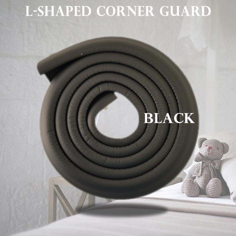 L字型 コーナーガード 市場 2m 衝撃吸収 赤ちゃん 幼児 安全 セーフティーグッズ 即日出荷 ブラック 介護 コーナークッション けが防止