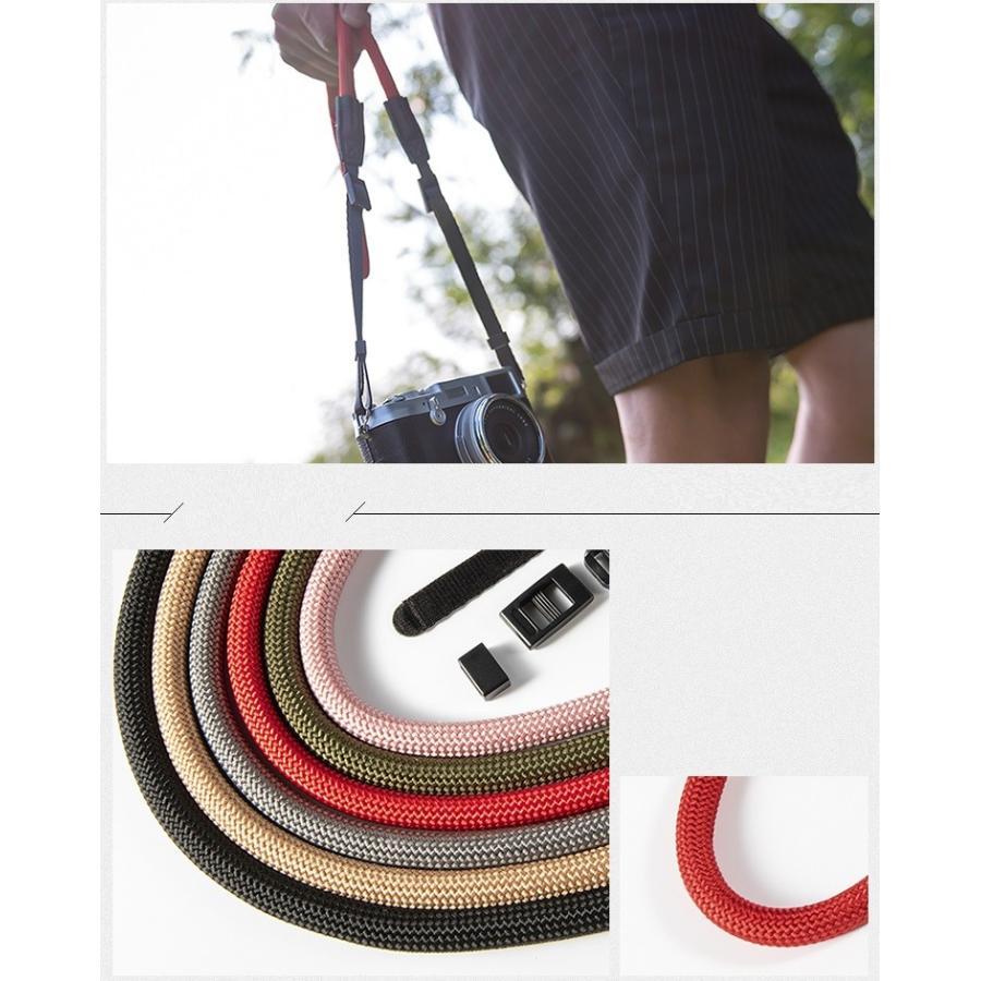 クライミングロープ カメラ用 ネックストラップ グレイッシュカラー ベルト式 全6色 vpc 11