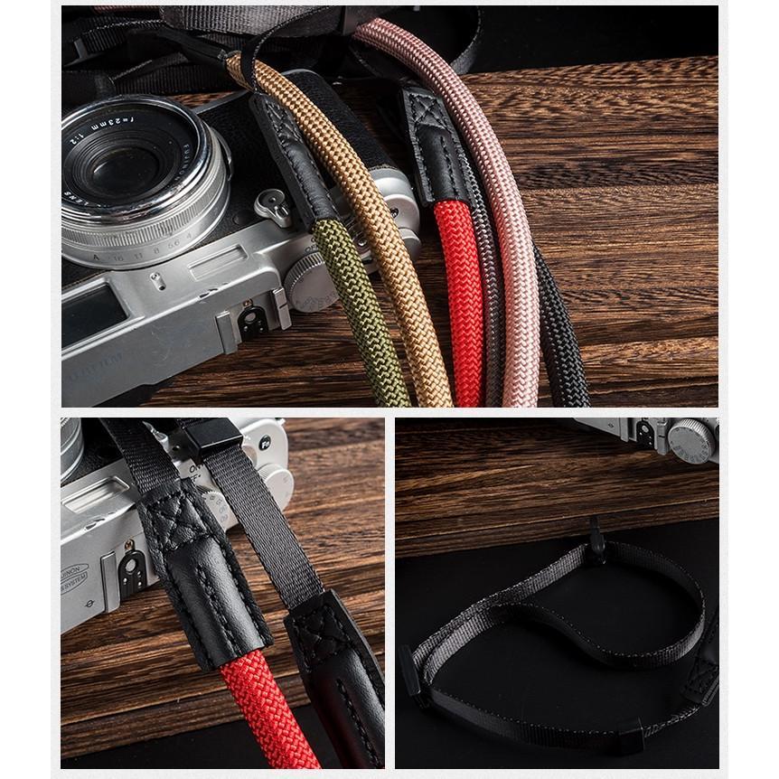 クライミングロープ カメラ用 ネックストラップ グレイッシュカラー ベルト式 全6色 vpc 06