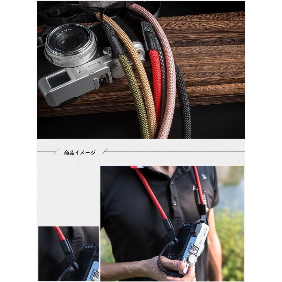 クライミングロープ カメラ用 ネックストラップ グレイッシュカラー ベルト式 全6色 vpc 08