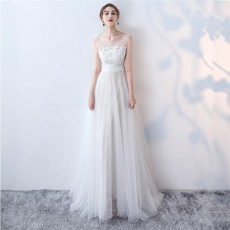 ウエディングドレス   大きいサイズ結婚式  花嫁  二次会ドレス  軽量/海外挙式  ウェディングドレス パーティードレス ファスナードレス vsmile