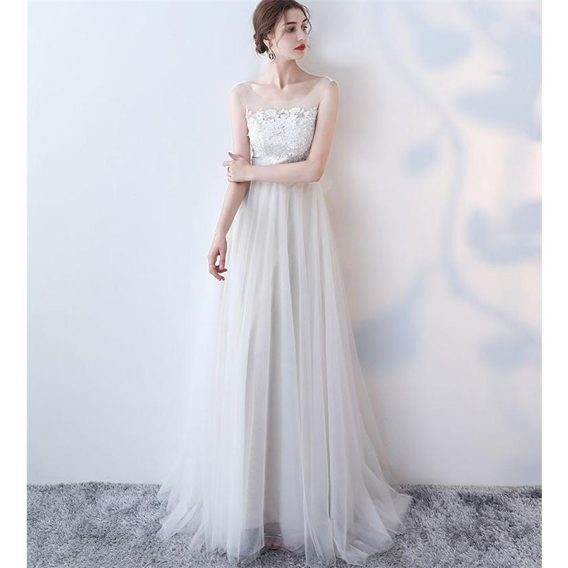 ウエディングドレス   大きいサイズ結婚式  花嫁  二次会ドレス  軽量/海外挙式  ウェディングドレス パーティードレス ファスナードレス vsmile 02