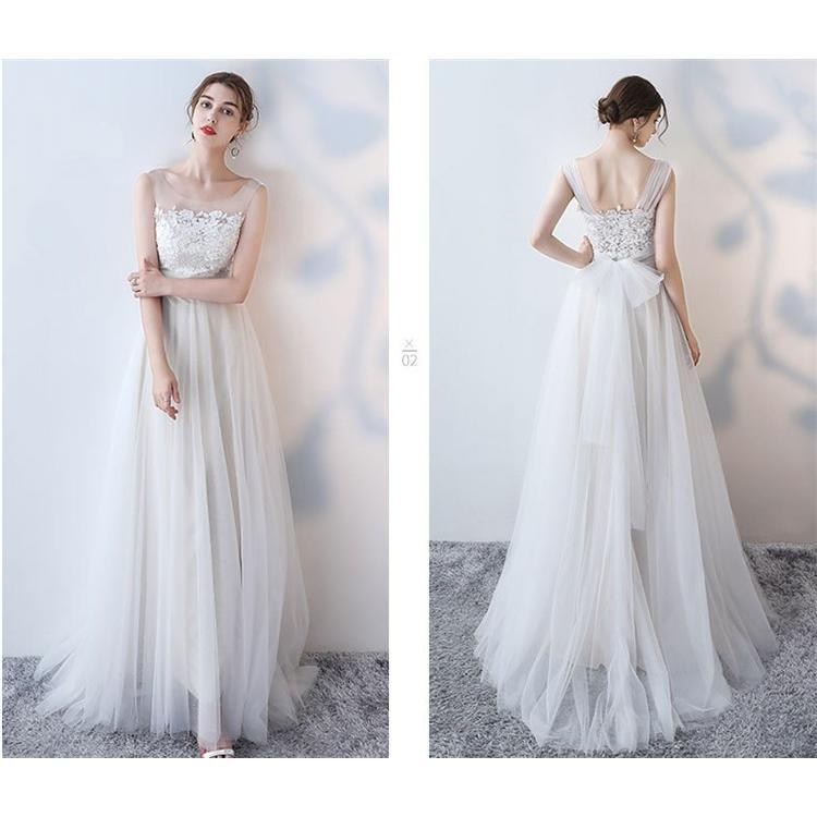 ウエディングドレス   大きいサイズ結婚式  花嫁  二次会ドレス  軽量/海外挙式  ウェディングドレス パーティードレス ファスナードレス vsmile 03