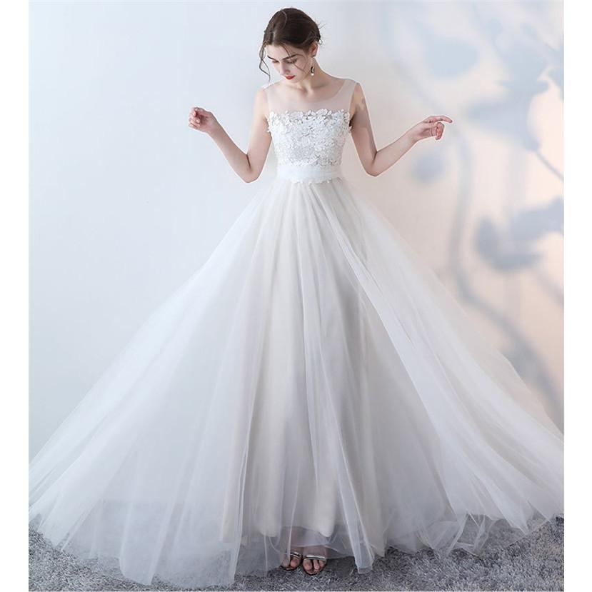ウエディングドレス   大きいサイズ結婚式  花嫁  二次会ドレス  軽量/海外挙式  ウェディングドレス パーティードレス ファスナードレス vsmile 04