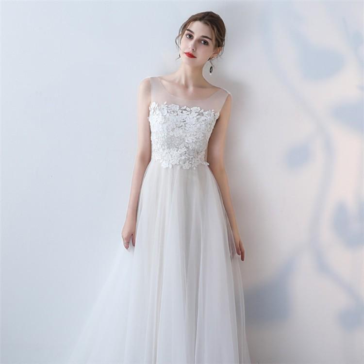 ウエディングドレス   大きいサイズ結婚式  花嫁  二次会ドレス  軽量/海外挙式  ウェディングドレス パーティードレス ファスナードレス vsmile 05