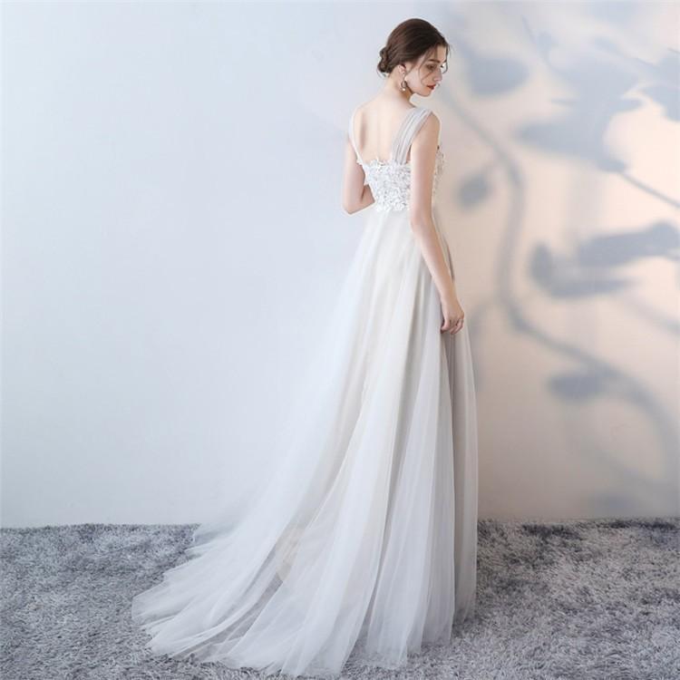 ウエディングドレス   大きいサイズ結婚式  花嫁  二次会ドレス  軽量/海外挙式  ウェディングドレス パーティードレス ファスナードレス vsmile 06