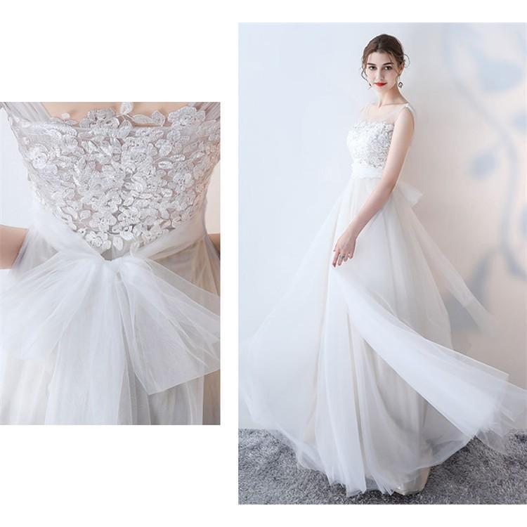 ウエディングドレス   大きいサイズ結婚式  花嫁  二次会ドレス  軽量/海外挙式  ウェディングドレス パーティードレス ファスナードレス vsmile 07