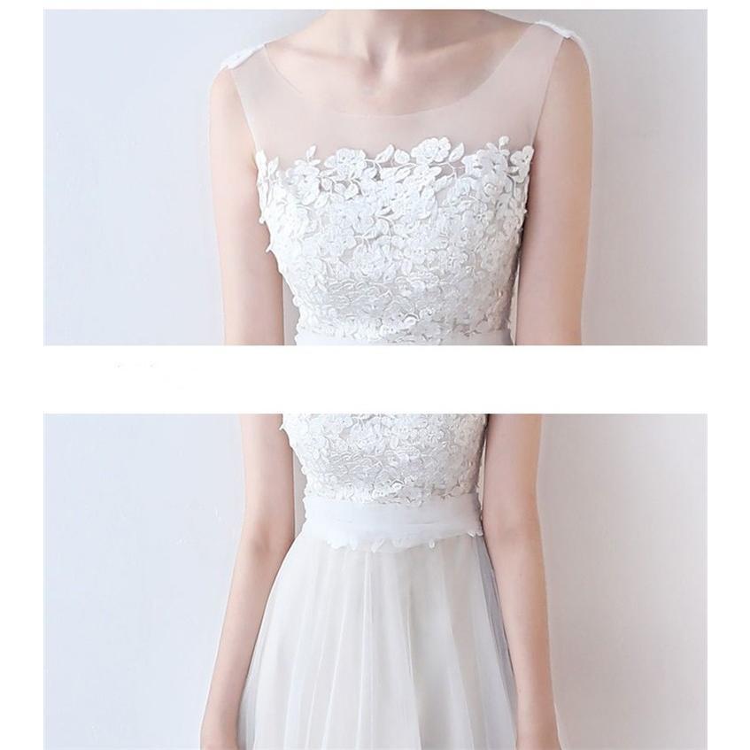 ウエディングドレス   大きいサイズ結婚式  花嫁  二次会ドレス  軽量/海外挙式  ウェディングドレス パーティードレス ファスナードレス vsmile 08