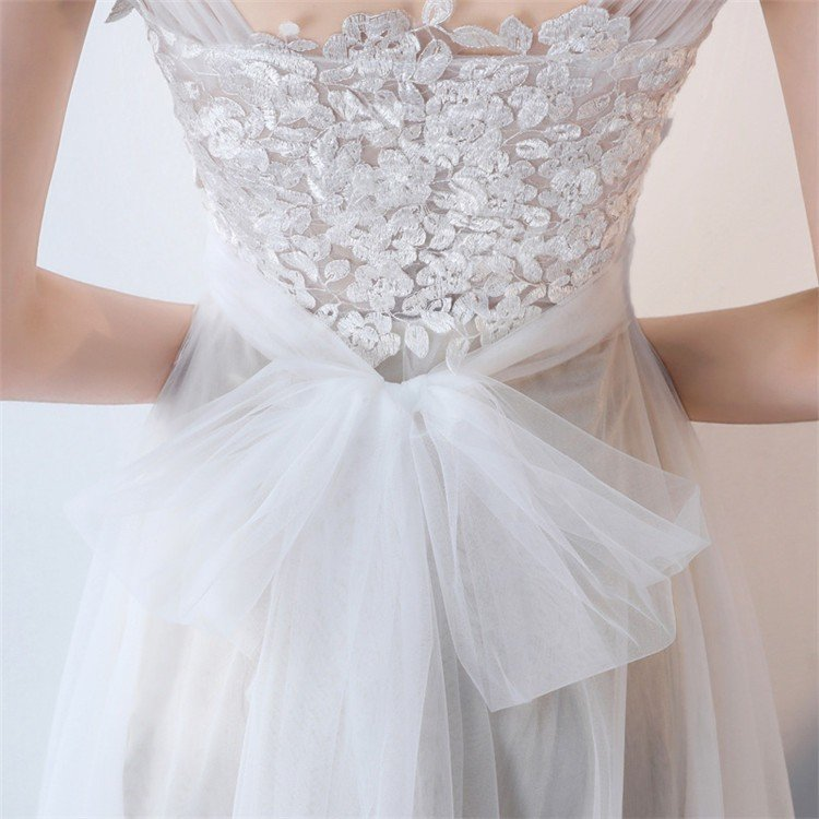 ウエディングドレス   大きいサイズ結婚式  花嫁  二次会ドレス  軽量/海外挙式  ウェディングドレス パーティードレス ファスナードレス vsmile 09