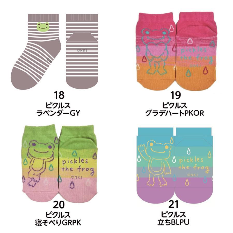【全21種類から選べる3足セット】キッズソックス はらぺこあおむし くまのがっこう ピクルス 靴下 13〜18cm vt-web 06