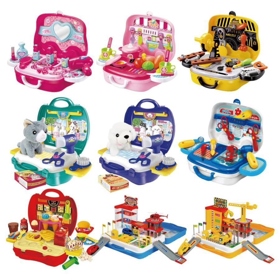 おままごとセット キッチン おもちゃ なりきりごっこあそびセット 男の子 女の子 2歳 3歳 4歳 メイク トリマー 猫 犬 ネコ イヌ クリスマス プレゼント RSL vt-web