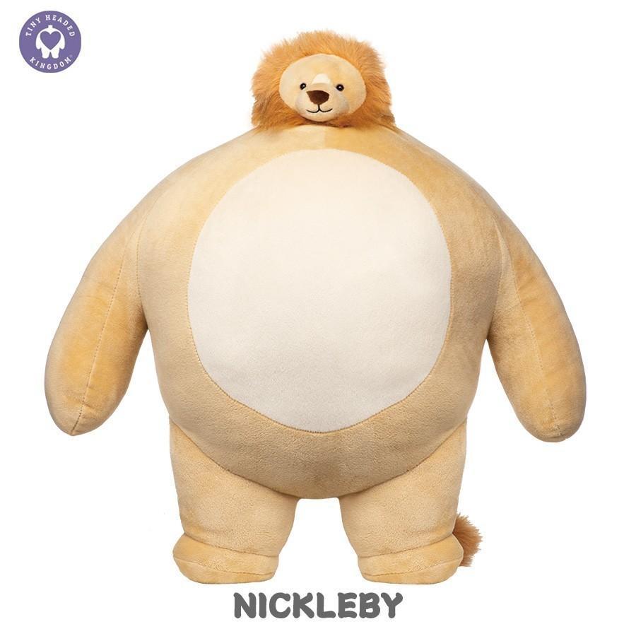 ぬいぐるみ くま 動物 顔 小さい おもちゃ TINY HEADED KINGDOM Lサイズ  タイニーヘッドキングダム トラ キツネ ナマケモノ ゾウ ライオン vt-web 05