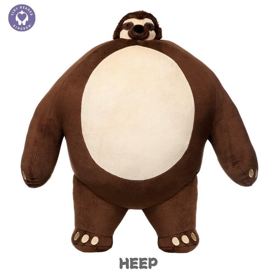 ぬいぐるみ くま 動物 顔 小さい おもちゃ TINY HEADED KINGDOM Lサイズ  タイニーヘッドキングダム トラ キツネ ナマケモノ ゾウ ライオン vt-web 06