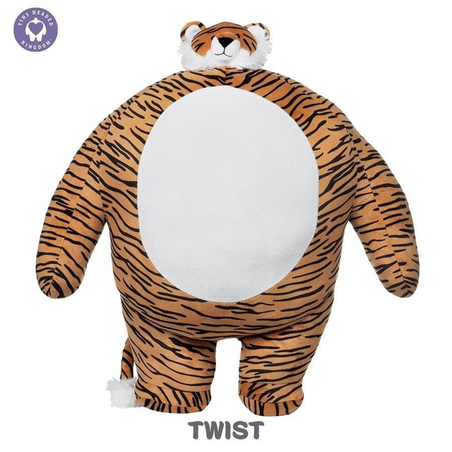 ぬいぐるみ くま 動物 顔 小さい おもちゃ TINY HEADED KINGDOM Lサイズ  タイニーヘッドキングダム トラ キツネ ナマケモノ ゾウ ライオン vt-web 09