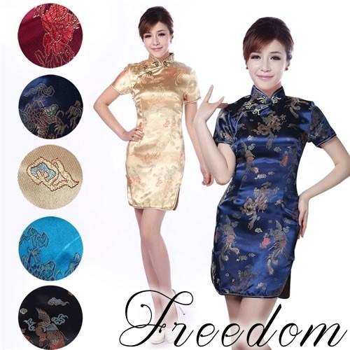 激安 セール キャバ ドレス パーティー ショート チャイナ|w-freedom