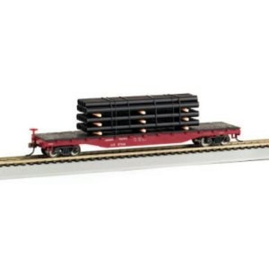 Bachmann Trains Union Pacific Flat Car with Pipe Load