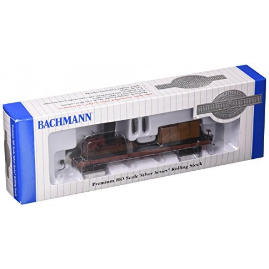 Bachmann Trains Log Skidder with Crates On 40' Log Car - HO Scale
