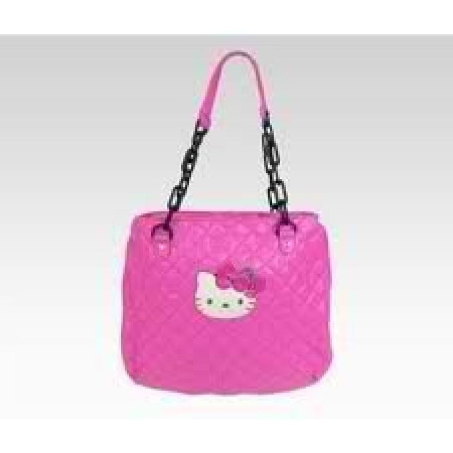 Hello Kitty Shoulder Tote Bag Hot ピンク Quilt