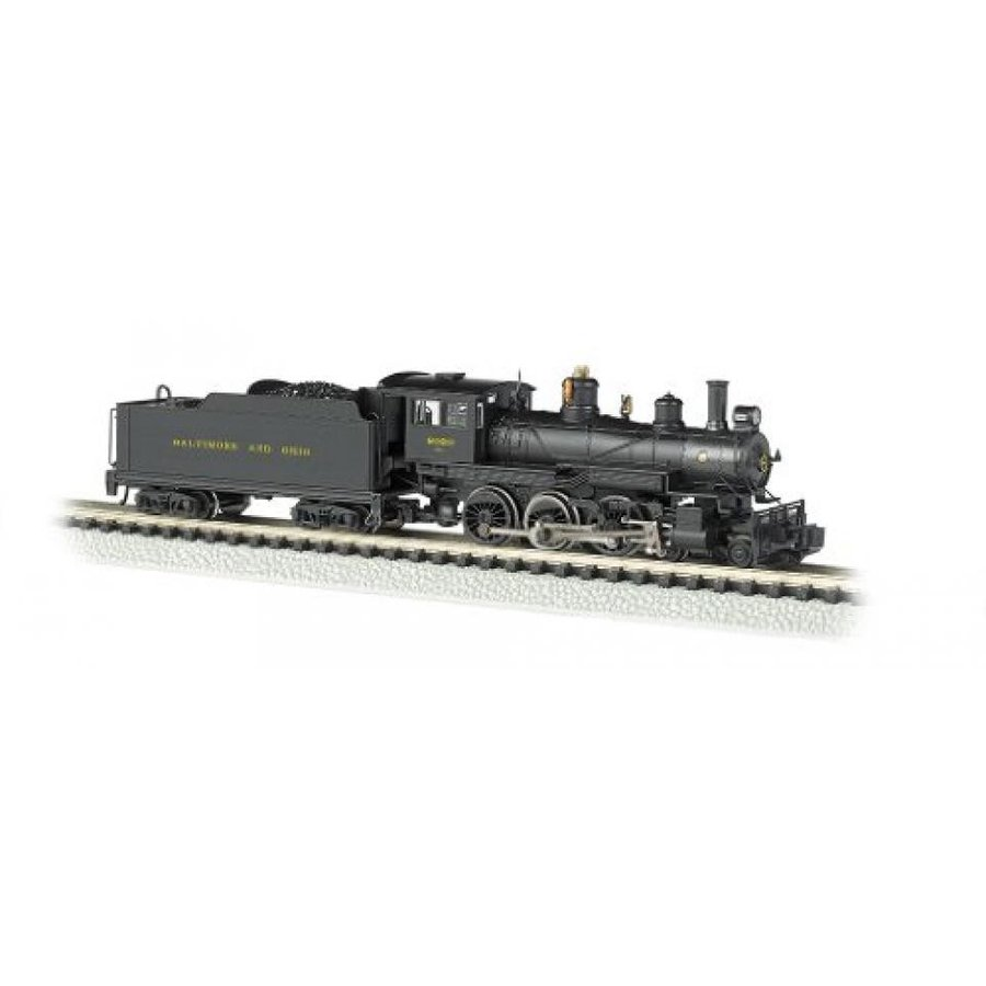 Bachmann Industries #2020 Baldwin 4-6-0 Steam Locomotive and Tender DCC Equipped B and O Train Car, N Scale