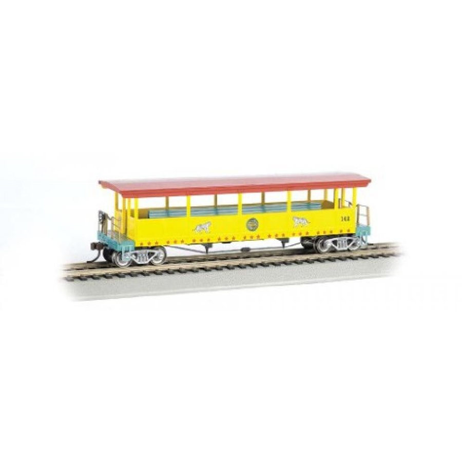 Bachmann Ringling Bros. and Barnum & Bailey Open-Sided Excursion Car with #142 Seats (HO Scale)