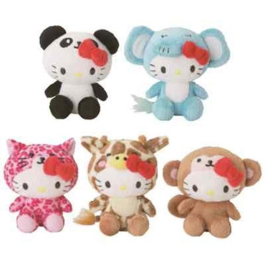 Hello Kitty Mascot Safari Plush (Set of 5)