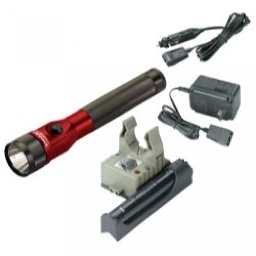 Stinger DS LED Rechargeable Flashlight with AC/DC and PiggyBack - 赤 Stinger DS LED w/AC/DC - PB -